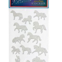 "STICKERS"" METALLIC"" CON SOGGETTO EQUESTRE"
