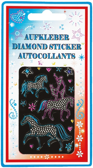 STICKERS  CON STRASS VOLTEGGIO