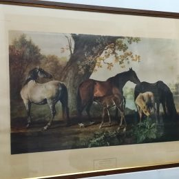 "STAMPA ""MARES AND FOALS"" GEORGE STUBBS"