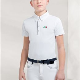 POLO DA GARA EQUILINE JUNIOR ZAC Junior, Manica Corta